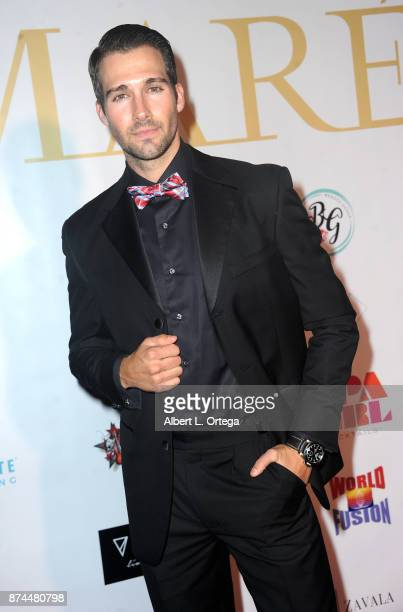 James Maslow attends Amare Magazine Presents A Black Tie Event featuring cover model Mike O'Hearn held at Hangar 21 on November 14 2017 in Fullerton...