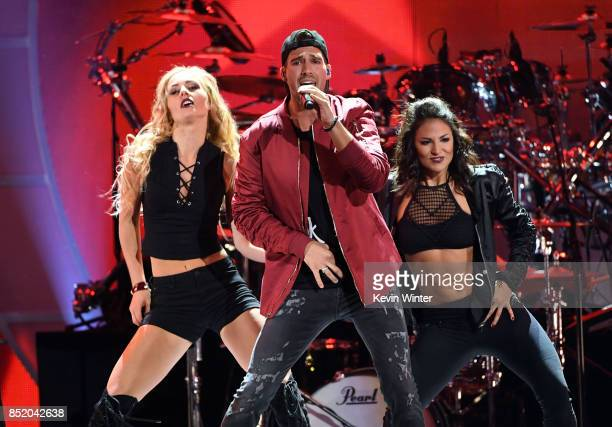 James Maslow performs onstage during the 2017 iHeartRadio Music Festival at TMobile Arena on September 22 2017 in Las Vegas Nevada