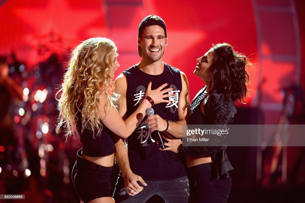 James Maslow (C) performs onstage during the 2017 iHeartRadio Music Festival at T-Mobile Arena on September 22, 2017 in Las Vegas, Nevada.