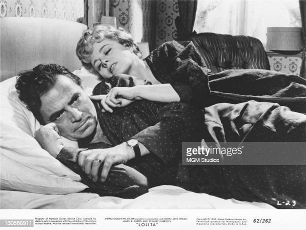 James Mason as Humbert Humbert and Shelley Winters as Charlotte HazeHumbert in a scene from 'Lolita' directed by Stanley Kubrick 1962