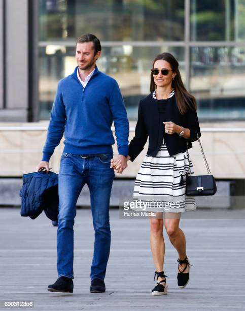 James Matthews and Pippa Middleton are seen leaving the Hyatt Hotel on May 31 2017 in Sydney Australia