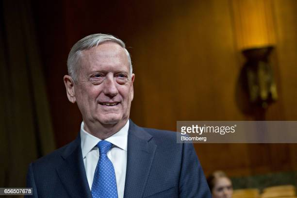 James Mattis US secretary of defense waits to begin a Senate Appropriations Subcommittee hearing in Washington DC US on Wednesday March 22 2017 The...