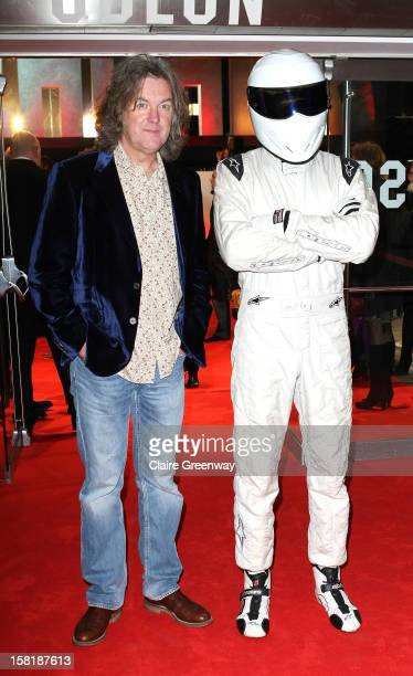 James May and The Stig attend the world premiere of 'Jack Reacher' at The Odeon Leicester Square on December 10 2012 in London England