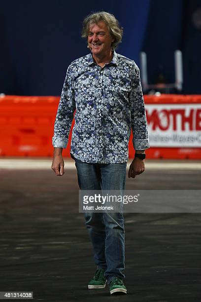 James May during Clarkson Hammond and May Live at Perth Arena on July 19 2015 in Perth Australia