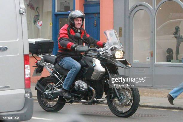 James May is seen riding a motorcycle on January 10 2012 in London United Kingdom