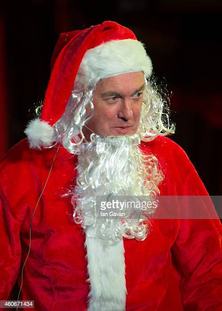 LONDON ENGLAND DECEMBER 19 James May participates in the Christian O'Connell Breakfast Show 'Zombie Claus 2' at Absolute Radio on December 19 2014 in...