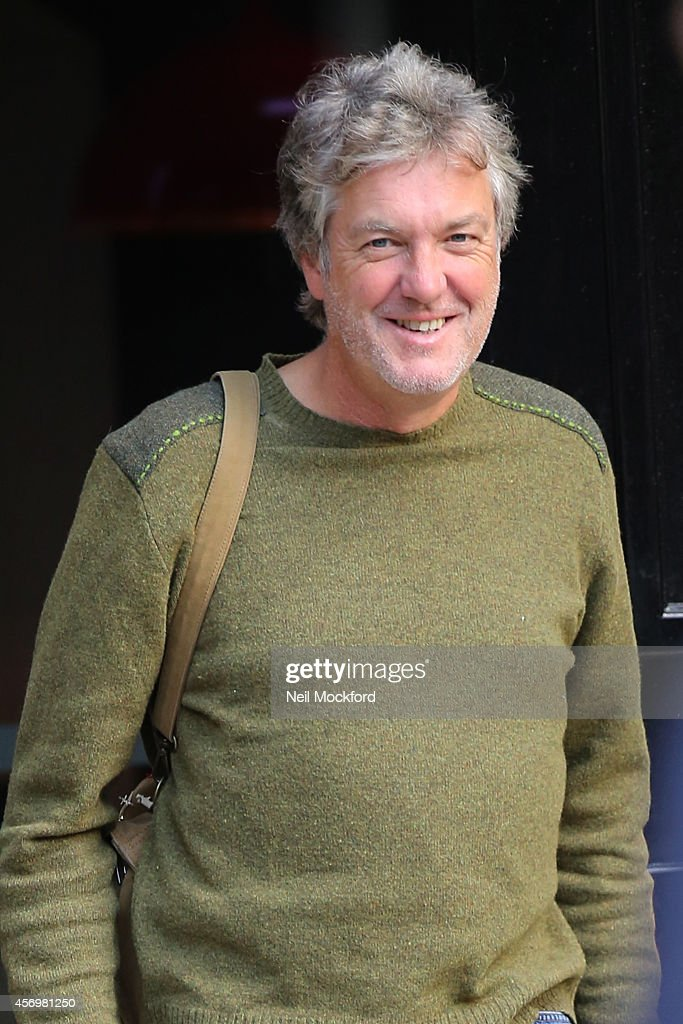 <a gi-track='captionPersonalityLinkClicked' href=/galleries/search?phrase=James+May&family=editorial&specificpeople=2709599 ng-click='$event.stopPropagation()'>James May</a> seen leaving the Absolute radio studio's on October 10, 2014 in London, England.