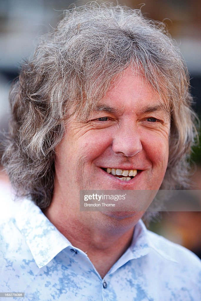 <a gi-track='captionPersonalityLinkClicked' href=/galleries/search?phrase=James+May&family=editorial&specificpeople=2709599 ng-click='$event.stopPropagation()'>James May</a> speaks with the media at Campbell's Cove Boardwalk ahead of the Inaugural Top Gear Festival Sydney this weekend, on March 7, 2013 in Sydney, Australia.