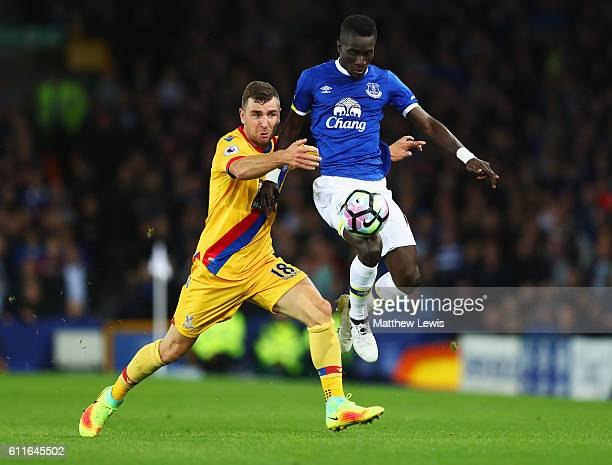 James McArthur of Crystal Palace and Idrissa Gueye of Everton battle for the ball during the Premier League match between Everton and Crystal Palace...