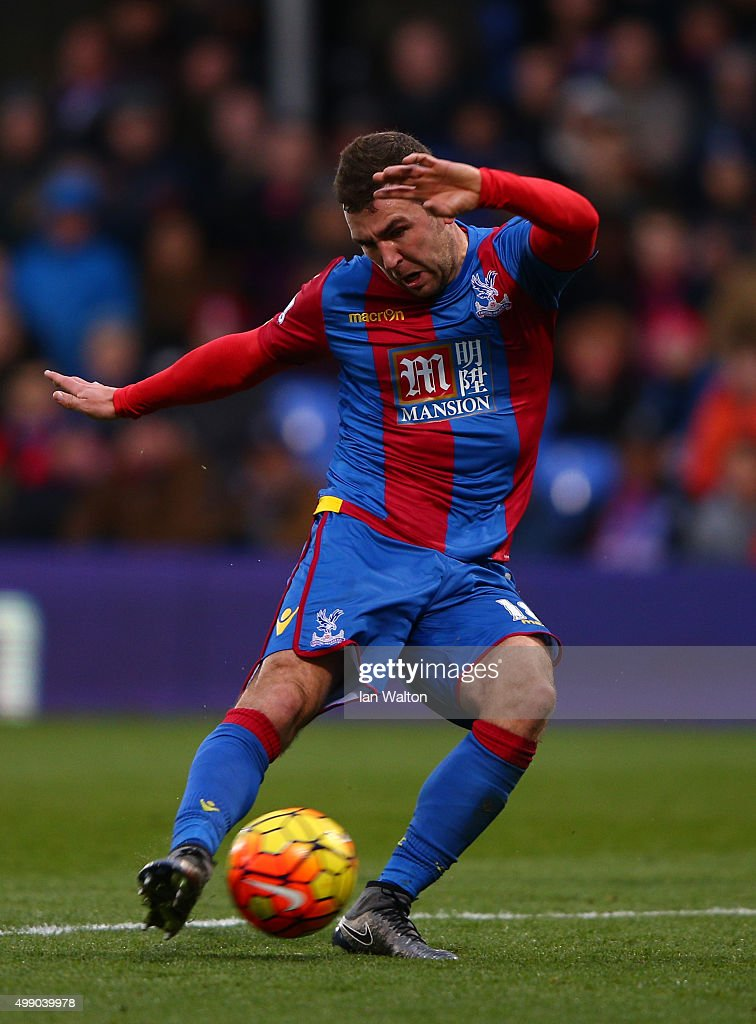 James McArthur of Crystal Palace scores his team's first goal during the Barclays Premier League match between Crystal Palace and Newcastle United at Selhurst Park on November 28, 2015 in London, England.