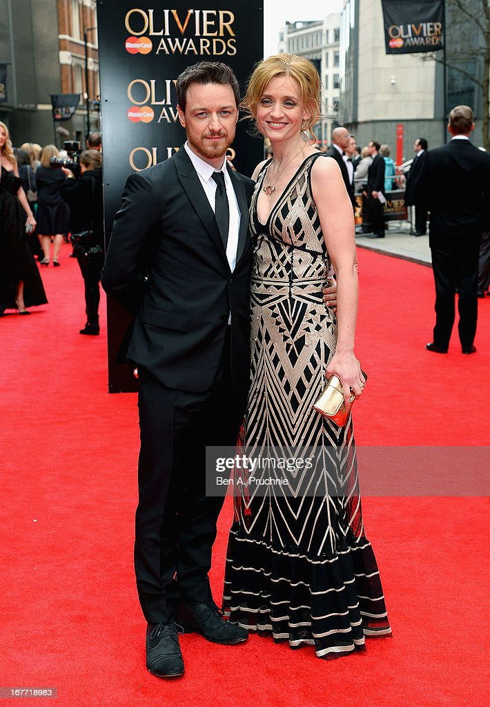 James McAvoy and Anne Marie Duff attend The Laurence Olivier Awards at the Royal Opera House on April 28, 2013 in London, England.