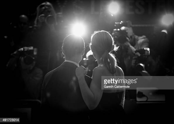 James McAvoy and AnneMarie Duff attend the 'Suffragette' premiere at the Opening Night Gala during the BFI London Film Festival at the Odeon...