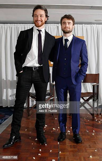 James McAvoy and Daniel Radcliffe attends the Jameson Empire Awards 2015 at Grosvenor House on March 29 2015 in London England