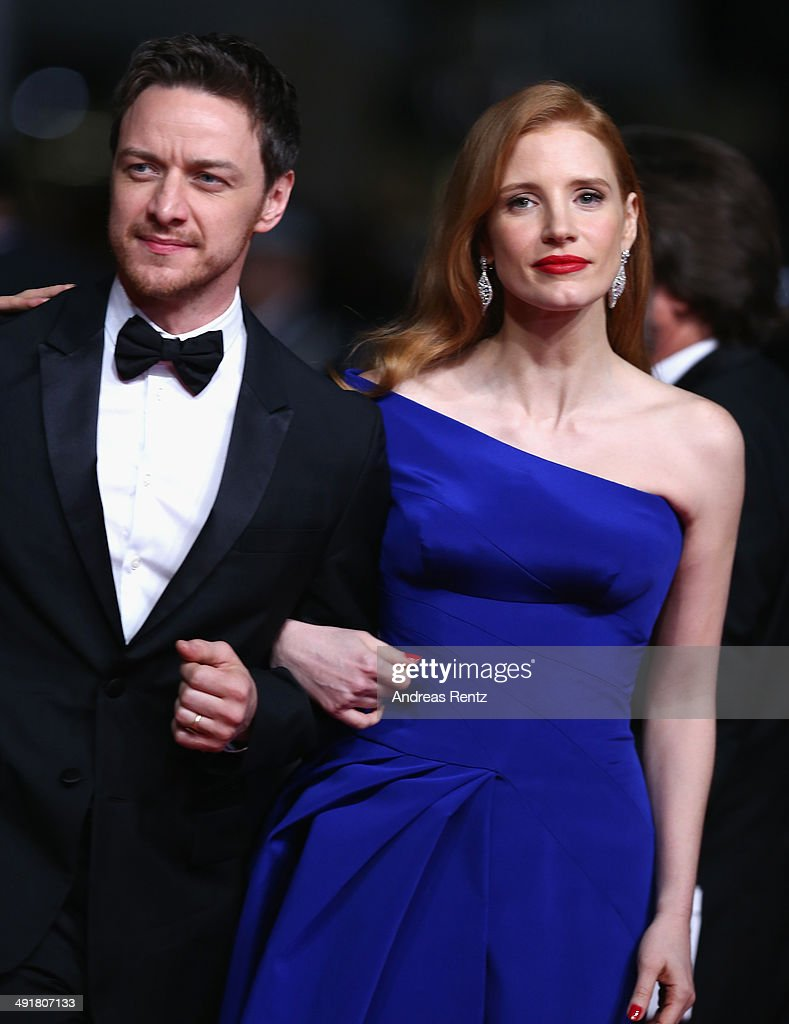 James McAvoy and Jessica Chastain attend 'The Disappearance Of Eleanor Rigby' Premiere at the 67th Annual Cannes Film Festival on May 17, 2014 in Cannes, France.