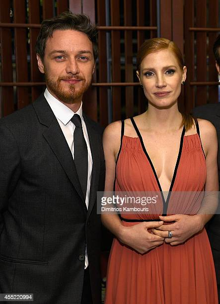 James McAvoy and Jessica Chastain attend the Prada and The Cinema Society screening of The Weinstein Company's 'The Disappearance of Eleanor Rigby'...