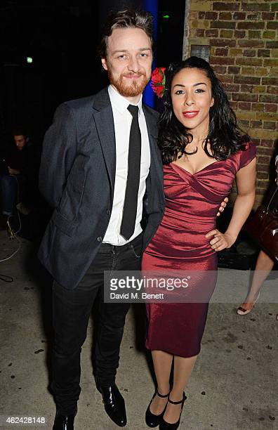 James McAvoy and Kathryn Drysdale attend an after party following the Gala Performance of 'The Ruling Class' at The Bankside Vaults on January 28...