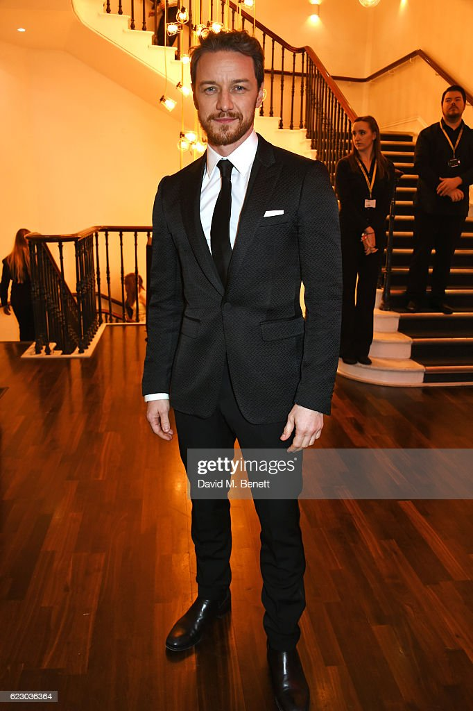 James McAvoy attends a cocktail reception at The 62nd London Evening Standard Theatre Awards, recognising excellence from across the world of theatre and beyond, at The Old Vic Theatre on November 13, 2016 in London, England.
