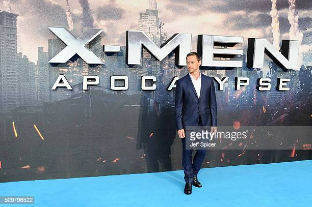 James McAvoy attends a Global Fan Screening of 'XMen Apocalypse' at BFI IMAX on May 9 2016 in London England