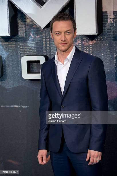 James McAvoy attends a Global Fan Screening of 'XMen Apocalypse' at the BFI IMAX on May 9 2016 in London England