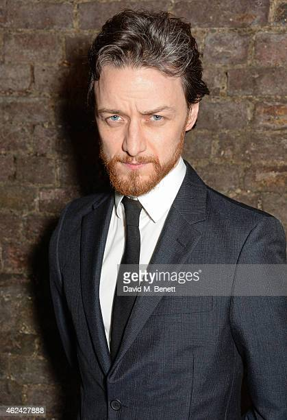 James McAvoy attends an after party following the Gala Performance of 'The Ruling Class' at The Bankside Vaults on January 28 2015 in London England