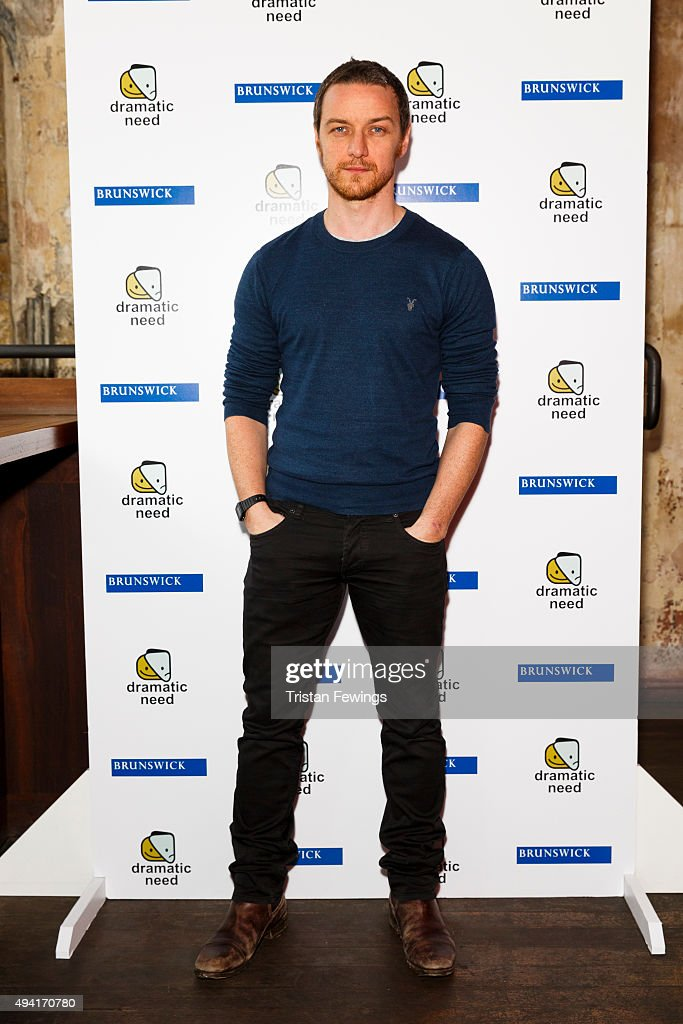 <a gi-track='captionPersonalityLinkClicked' href=/galleries/search?phrase=James+McAvoy&family=editorial&specificpeople=647005 ng-click='$event.stopPropagation()'>James McAvoy</a> attends 'The Children's Monologues', Danny Boyle's production inspired by children from rural South Africa in aid of his charity 'Dramatic Need' at Royal Court Theatre on October 25, 2015 in London, England.