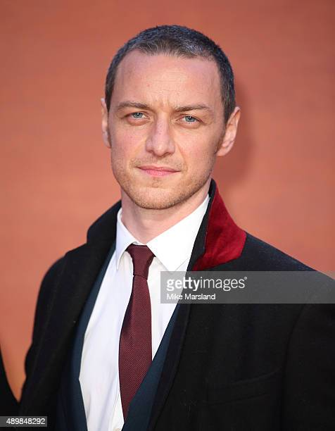 James McAvoy attends the European premiere of 'The Martian' at Odeon Leicester Square on September 24 2015 in London England