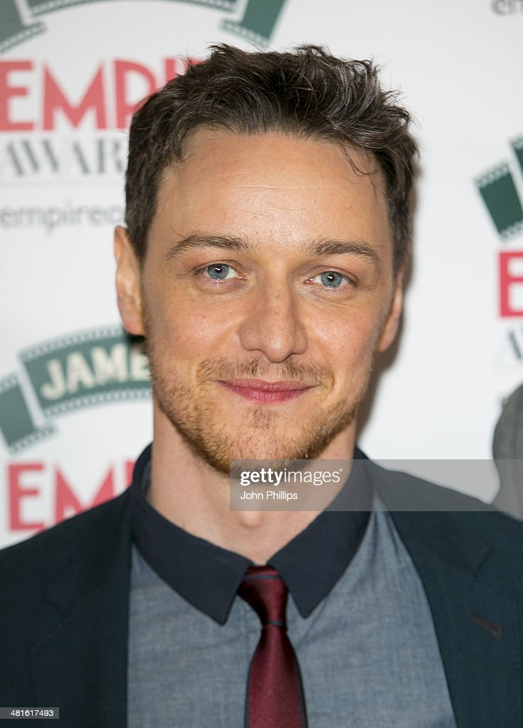 James McAvoy attends the Jameson Empire Film Awards at The Grosvenor House Hotel on March 30, 2014 in London, England.