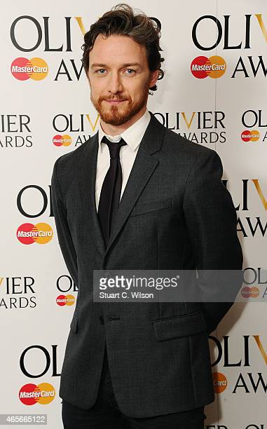James McAvoy attends the nominations photocall for the Olivier Awards at Rosewood London on March 9 2015 in London England