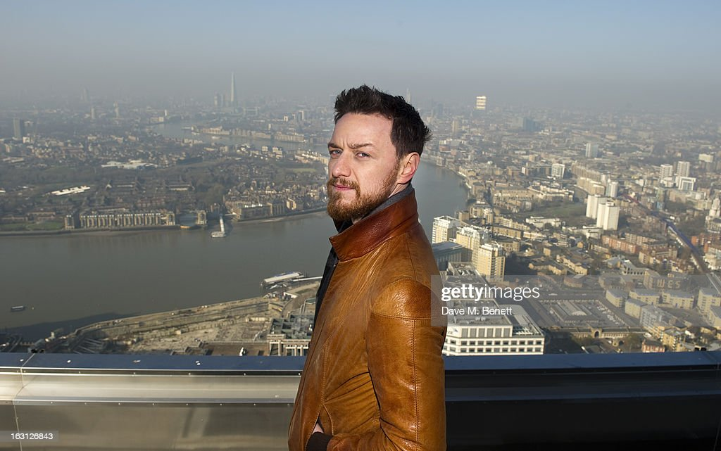 James McAvoy attends the the 'Welcome To The Punch' Photocall at One Canada Square on March 5 2013 in London England