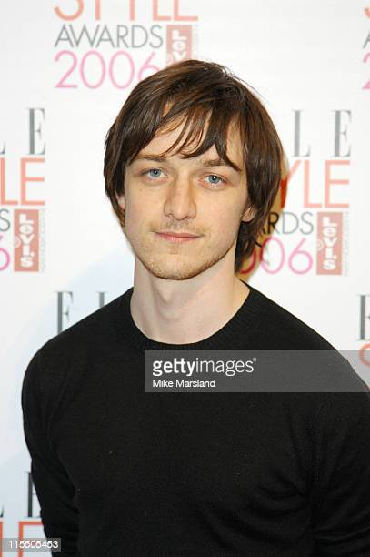 James McAvoy during Elle Style Awards 2006 Inside Arrivals at Old Truman Brewery in London Great Britain
