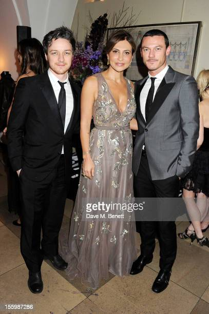 James McAvoy Ella Krasner and Luke Evans attend the Place For Peace dinner cohosted by Ella Krasner and Forest Whitaker to support the Peace Earth...