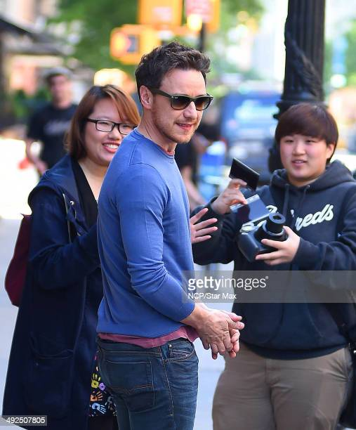 James McAvoy is seen on May 20 2014 in New York City