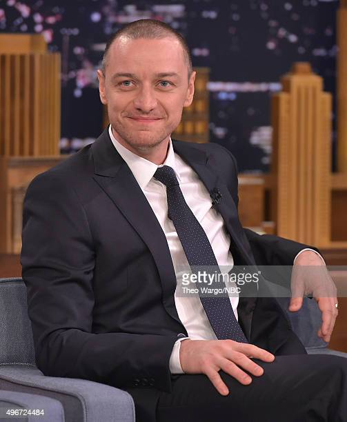 James McAvoy visits 'The Tonight Show Starring Jimmy Fallon' at Rockefeller Center on November 11 2015 in New York City