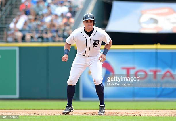 James McCann of the Detroit Tigers runs the bases during the game against the Toronto Blue Jays at Comerica Park on July 5 2015 in Detroit Michigan...