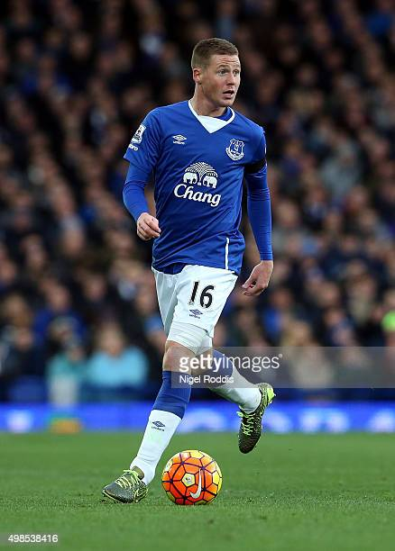 James McCarthy of Everton during the Barclays Premier League match between Everton and Aston Villa at Goodison Park on November 21 2015 in Liverpool...