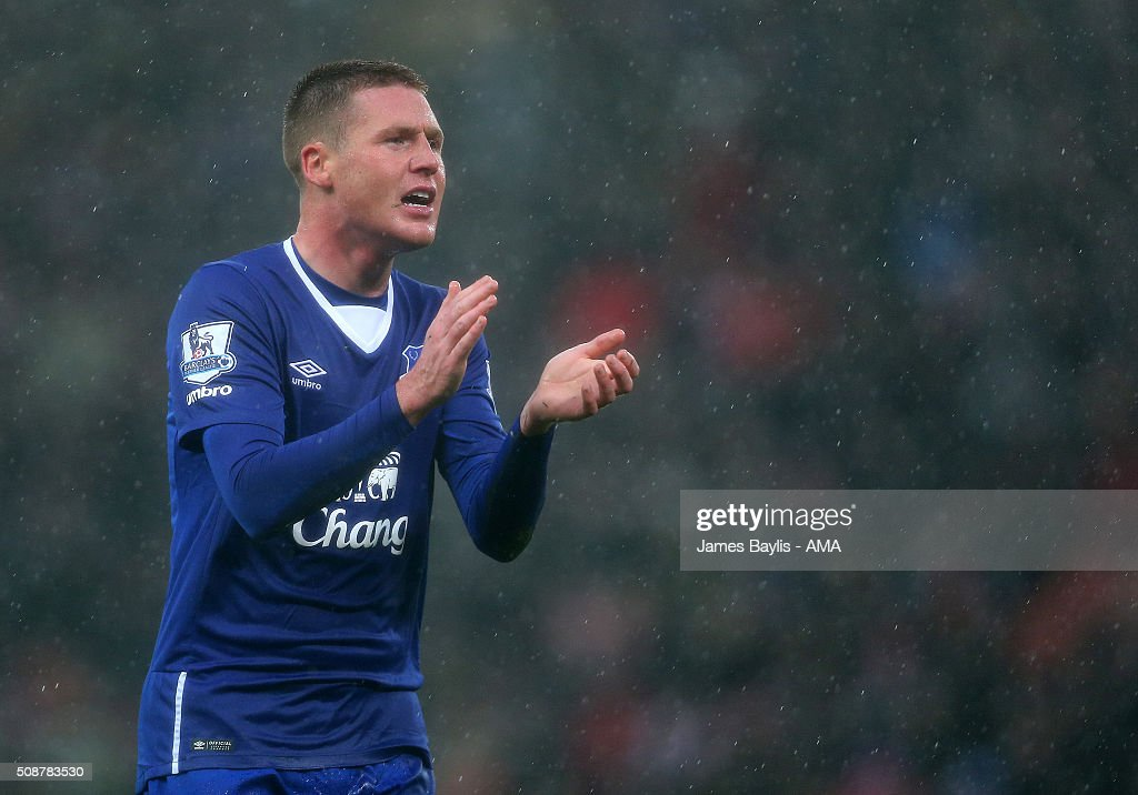 James McCarthy of Everton during the Barclays Premier League match between Stoke City and Everton at the Britannia Stadium on February 06, 2016 in Stoke-on-Trent, England.
