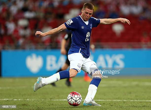 James McCarthy of Everton in action during the Barclays Asia Trophy match between Everton and Stoke City at National Stadium on July 15 2015 in...
