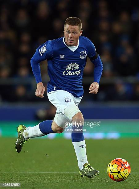 James McCarthy of Everton in action during the Barclays Premier League match between Everton and Aston Villa at Goodison Park on November 21 2015 in...