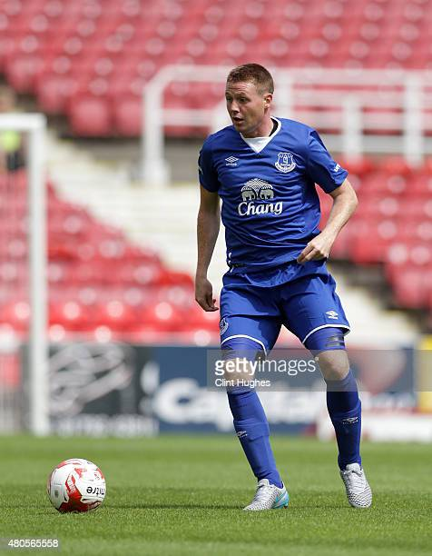 James McCarthy of Everton in action during the Pre Season Friendly match between Swindon Town and Everton at the County Ground on July 11 2015 in...