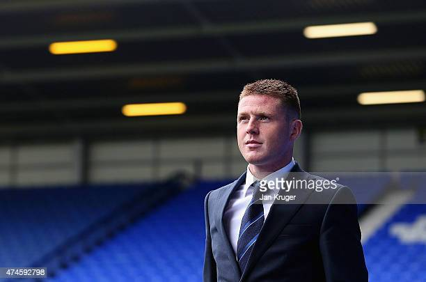 James McCarthy of Everton looks on prior to the Barclays Premier League match between Everton and Tottenham Hotspur at Goodison Park on May 24 2015...