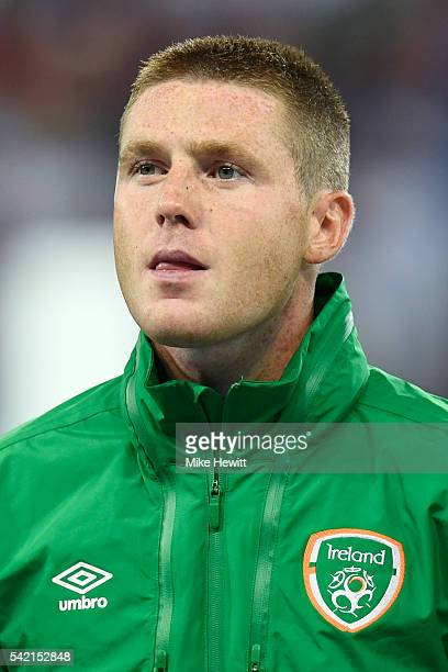 James McCarthy of Republic of Ireland is seen prior to the UEFA EURO 2016 Group E match between Italy and Republic of Ireland at Stade PierreMauroy...