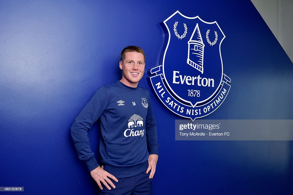 James McCarthy signs a new contract at Everton at Finch Farm on August 6, 2015 in Liverpool, England.