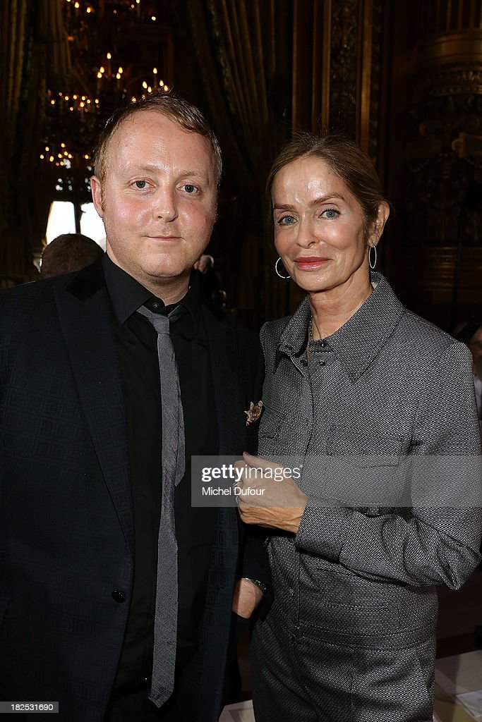 <a gi-track='captionPersonalityLinkClicked' href=/galleries/search?phrase=James+McCartney&family=editorial&specificpeople=4529830 ng-click='$event.stopPropagation()'>James McCartney</a> and <a gi-track='captionPersonalityLinkClicked' href=/galleries/search?phrase=Barbara+Bach&family=editorial&specificpeople=240623 ng-click='$event.stopPropagation()'>Barbara Bach</a> Starkey attend the Stella McCartney show as part of the Paris Fashion Week Womenswear Spring/Summer 2014 on September 30, 2013 in Paris, France.