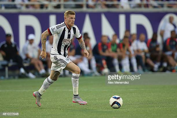 James McClean of West Bromwich Albion controls the ball during an International friendly soccer match between West Bromwich Albion and the Orlando...