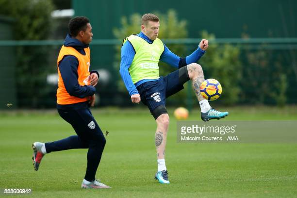 James McClean of West Bromwich Albion during training on December 5 2017 in West Bromwich England