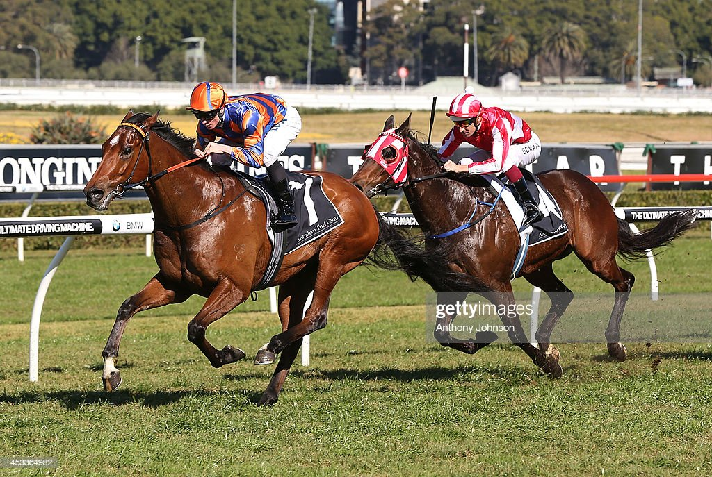 James McDonald (L) rides As Needed during Sydney Racing at Royal Randwick Racecourse on August 9, 2014 in Sydney, Australia.
