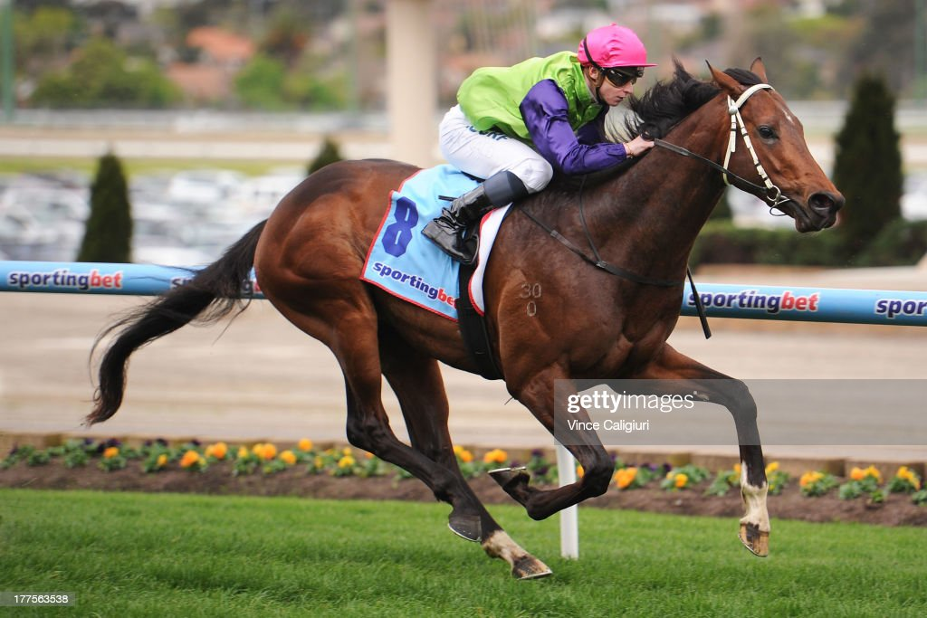 James McDonald riding Cauthen wins the Essendon Nissan McKenzie Stakes during Melbourne Racing at Moonee Valley Racecourse on August 24, 2013 in Melbourne, Australia.