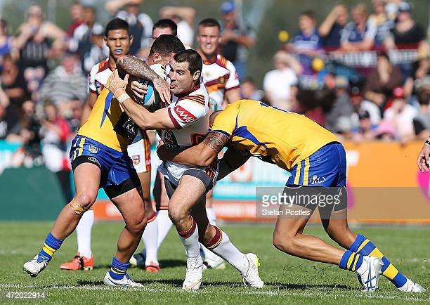 James McManus of Country is tackled during the City v Country Origin match at McDonalds Park on May 3 2015 in Wagga Wagga Australia