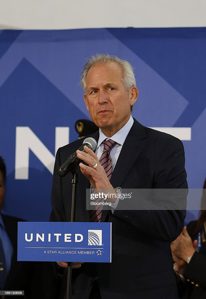 James McNerney, chairman, president and chief executive officer of Boeing Co., speaks during a news conference at George Bush Intercontinental Airport in Houston, Texas, U.S., on Monday, May 20, 2013. Boeing Co.'s 787 Dreamliner is poised to clear another hurdle in restoring its image as United Airlines, the only U.S. operator, resumes flights after the jet's lithium-ion battery flaws forced a three-month grounding. Photographer: Aaron M. Sprecher/Bloomberg via Getty Images