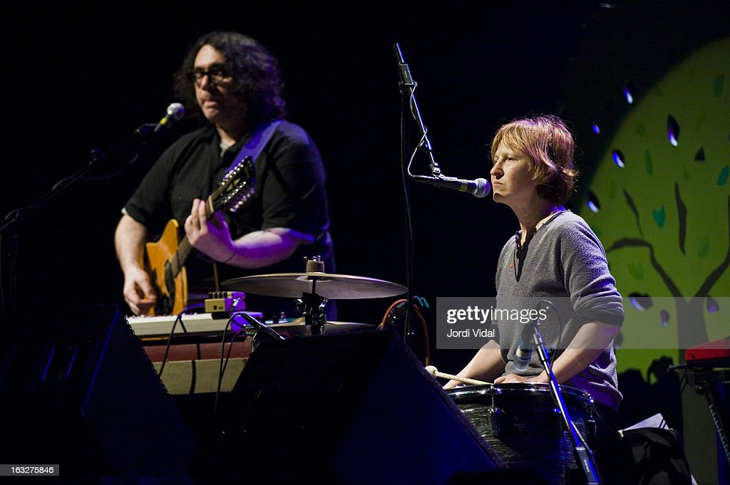 James McNew and Georgia Hubley of Yo La Tengo perform on stage during Festival del Mil.lenni at L'Auditori on March 6, 2013 in Barcelona, Spain.